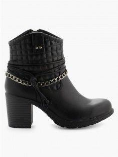 Boots motarde lacet et chaîne K BY KOOKAI