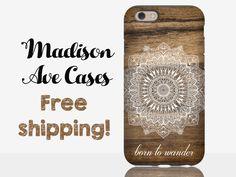 Born To Wander Hippie Tribal Adventure Seeker Wanderlust Travel Gypsy Wood Custom Samsung Galaxy Edge S5 S6 S7 iPhone 5 6 6s Plus Phone Case