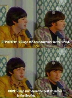 Ustedes se mataron por ver a un baterista que fue el power ranger amarillo de los Beatles.