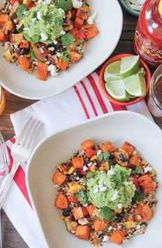 Sweet Potato Burrito Bowls with Summer Vegetables and Quinoa