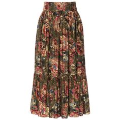 Flowing skirt with a striking green flower print, a wide fitted waistband and flounced hem. Featuring hidden side-seam pockets and a side button and zip fastening. New Freedom, Ribbon Skirts, Working Man, Green Flowers, Piece Of Clothing, Men, Pockets, Shopping, Clothes