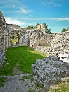 Priory ruins in Lewes, England