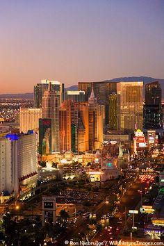 Aerial view of the Strip, Las Vegas, Nevada.