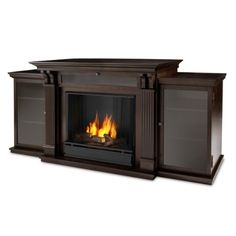 Looking for Real Flame Calie Entertainment Unit Electric Fireplace, Large, Dark Walnut ? Check out our picks for the Real Flame Calie Entertainment Unit Electric Fireplace, Large, Dark Walnut from the popular stores - all in one. Gel Fireplace, Media Fireplace, Fireplace Inserts, Fireplace Ideas, Fireplace Design, Craftsman Fireplace, Fireplace Cover, Fireplace Outdoor, Houses