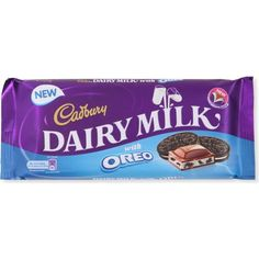 Dairy Milk Oreo bar is very much like the original Cadbury milk chocolate bar although it has also incoperated the blue from Oreo packaging in a suttle but effective way that still shows it is a cadbury chocolate. Milka Chocolate, Cadbury Dairy Milk Chocolate, Chocolate Brands, Chocolate Sweets, I Love Chocolate, Chocolate Gifts, Chocolate Lovers, Candy Recipes, Baby Food Recipes