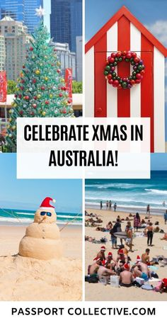 Everything you ever wanted to know about celebrating Christmas in Australia. Australian Christmas traditions, Aussie Christmas lights, festivals, carols and Australian Christmas foods, Enjoy Christmas in the summer and celebrate the festive season in Australia!  Xmas | Christmas | Australia #christmas #australia #festive