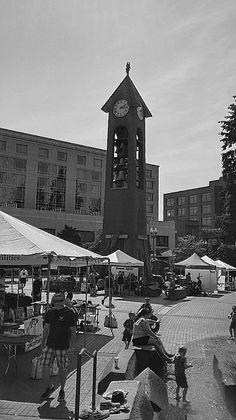 Esther Short Park Salmon Run Clock Bell tower