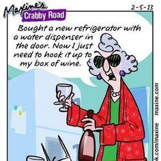 Wine Humor - Maxine