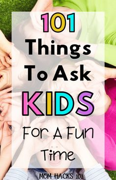 101 Fun Questions To Ask Kids To Know Them Better - Mom Hacks 101 Fun Questions For Kids, Funny Questions, Interview Questions, Icebreaker Questions, Toddler Activities, Activities For Kids, Educational Activities, Preschool Ideas, Physical Activities