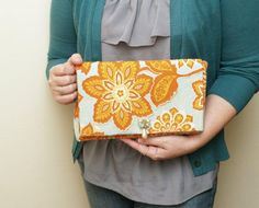 This Simple Applique Clutch is easy and fun to make! There are three other versions of this clutch on the blog as well!