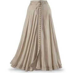 Button Front Maxi Skirt Size 3X ($70) ❤ liked on Polyvore featuring skirts, bottoms, maxi skirt, long skirts, plus size, long brown skirt, button front skirt, long button skirt and plus size skirts