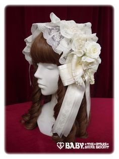 Alice and the Pirates' Nostalgia Ribbon Headdress in Ivory