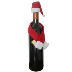 High Quality  Christmas hat scarf red wine bottle Christmas decorations #clothing,#shoes,#jewelry,#women,#men,#hats,#watches,#belts,#fashion,#style