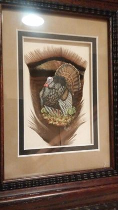 Strutting Tom painted feather by Melissa Ball...........beautiful artwork!