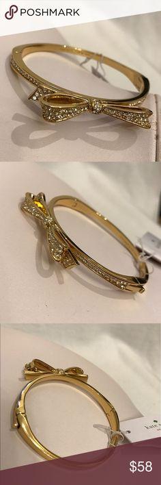 💥1 HOUR SALE $49💥♠️Kate Spade bow hinged bangle New With tag kate spade Jewelry Bracelets