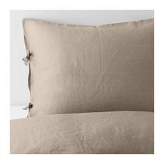 PUDERVIVA Duvet cover and pillowcase(s), natural natural Full/Queen (Double/Queen)