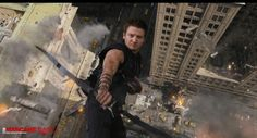 Hawkeye (in a really cool scene from the movie)