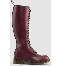 doc martens in cherry red