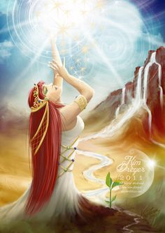 Reach for your Dreams - Sacred Light Visions - The Art of Kim Dreyer