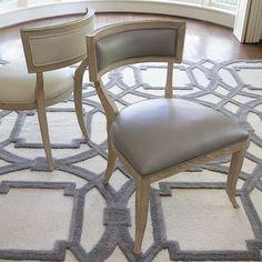 Global Views Klismos Chair Leather