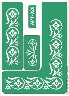 трафарет 026 - зелёный,трафарет,трафареты,Декупаж,материалы для творчества