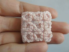 Miniature cushion with roses Dollhouse crochet pillow by MiniGio