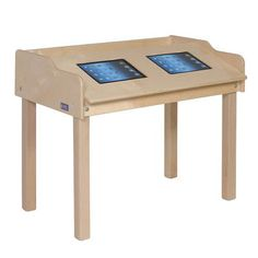 "Steffy 35"" x 21"" Novelty Activity Table Leg Height: 24"", Tablet Type: iPad 1st Generation, Casters: Yes"