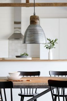 Find out all you need to know about choosing the right pendants for your kitchen design. Beacon Lighting, Cool Lighting, Lighting Ideas, Modern Industrial Decor, Industrial Style, Slate Hearth, Interior Design Inspiration, Kitchen Inspiration, Room Inspiration