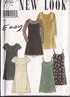 WOMENS SEWING PATTERN New Look 6696 Summer dress by retrochick66, $5.95