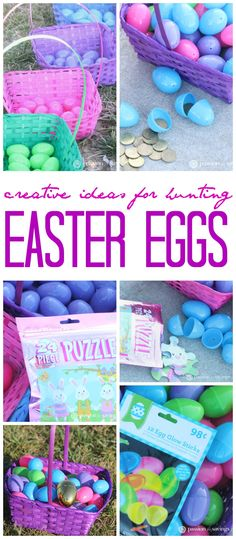 Easter Egg Hunt Ideas - Glow in the Dark, Same Color Eggs and Baskets, Golden Coins, Puzzle Pieces and more! There are so many creative ideas for Easter Egg Hunts for Kids and these are just a few of my favorites! Hoppy Easter, Easter Bunny, Easter Eggs, Easter Food, Thanksgiving Crafts, Easter Crafts, Easter Ideas, Easter Decor, Diy Arts And Crafts