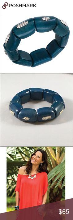 """Silpada Polished Palms Stretchy Bracelet  Silpada Polished Palms Stretchy Bracelet: Swarovski crystals, tagua nut, sterling silver. 7"""" diameter Silpada Jewelry Bracelets"""