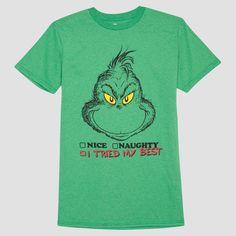 Men's Big & Tall Grinch I Tried My Best T-Shirt - Kelly Green 3XLT, Size: Xxxl Tall