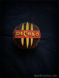 Diablo III Devil's food cupcakes