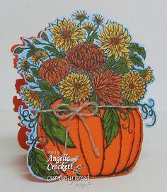 Stamps - Our Daily Bread Designs Fall Flower Pumpkin, ODBD Custom Pumpkin & Flowers Die