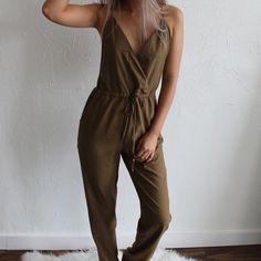 Criss Cross Back Jumpsuit No trades! Price is Firm! Follow me on instagram: @theanalyssa  model: @taniajorden Dresses Maxi