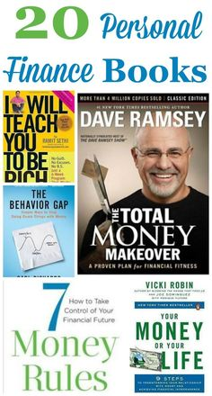 Whether we enjoy dealing with our money or not, it is something we've got to do, as adults. You work hard for that money, so learn how to manage it properly, with budgeting, investing, and much much more. Here are 20 of the best personal finance books out there that can help you with exactly that. #ad