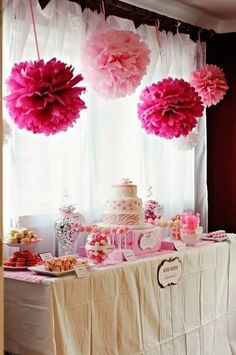 Pink birthday theme
