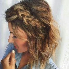 Trenza ancha para cabello corto