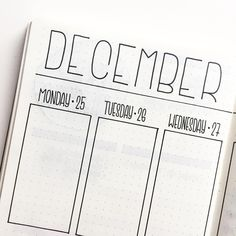 Bullet journal weekly layout, minimalist bullet journal weekly layout. @flyingpaperwords