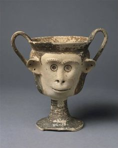 Kantharos in the shape of a monkey head. Cyprus, 6th century B.C