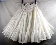Vintage White Tulle Crinoline Petticoat Tutu by RogueRetro on Etsy