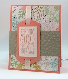 stampin up punches, die cutting machine, big shot machine, diy greeting card Some Cards, Get Well Cards, Sympathy Cards, Greeting Cards, Card Making Templates, Card Tags, Card Kit, Handmade Birthday Cards, Card Maker