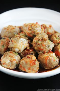 Paleo Thai Meatballs #LexisCleanKitchen