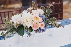 Melody - this is similar to the other and just gorgeous. I love the colors and the specific flowers used in the arrangements.Stunning-Organic-Rose-Hydrangea-Centerpiece