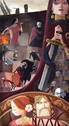 ca-tsuka:  Cartoon Saloon animation studio artists worked for...