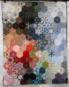 Wisteria Bonsai Second Career Hexagons aus Kites - alte Hemden
