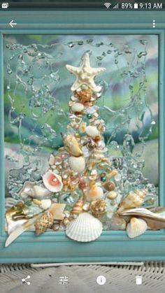 How to Take Good Beach Photos Seashell Art, Seashell Crafts, Beach Crafts, Sea Glass Crafts, Sea Glass Art, Water Glass, Coastal Christmas, Christmas Tree, Seashell Projects