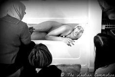 TheLaotianCommotion.com: Home birth in home bathtub. No birth pool needed!