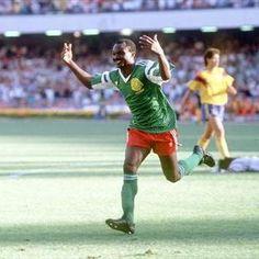 Roger Milla (Cameroon, 1973–1994, 102 caps, 28 goals)