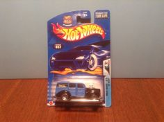 Hot Wheels '40 Woody #57 Wild Wave #3 2003 Black & Blue 1940 Woodie #HotWheels